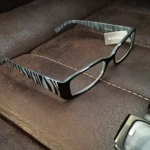 NWT Chico's Magnifying Readers +1.50 Zebra Print